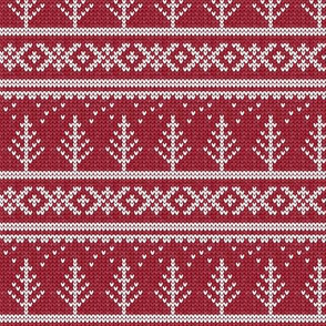fair isle - tree (red) || winter knits