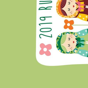 2019 Russian dolls tea towel calendar