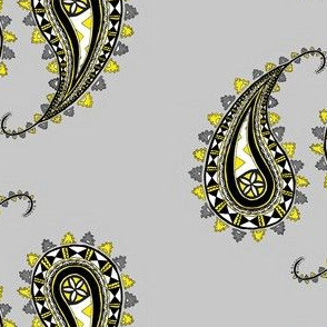Fijian Paisley Yellow