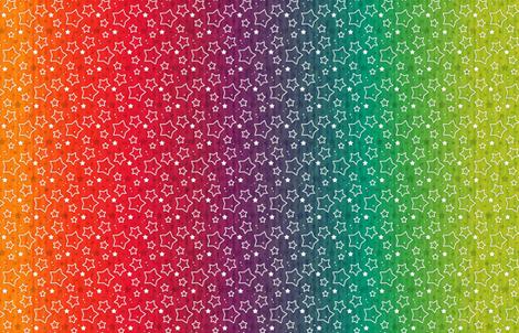 Rainbow Stars fabric by versodile on Spoonflower - custom fabric