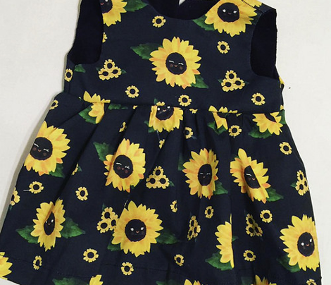 Sunflowers - Black