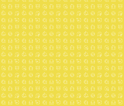 White-on-Yellow Birdies fabric by allaroundquilter on Spoonflower - custom fabric