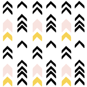 Tribal Arrows - Yellow/Pink