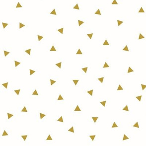 mustard triangles - scattered triangles, golden mustard yellow || by sunny afternoon