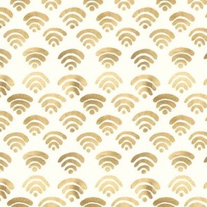 Gold Wifi Pattern