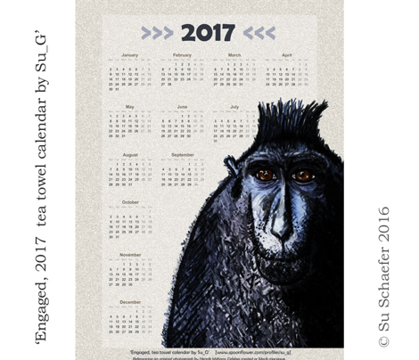 Engaged, 2017 tea towel calendar: Monday week starts