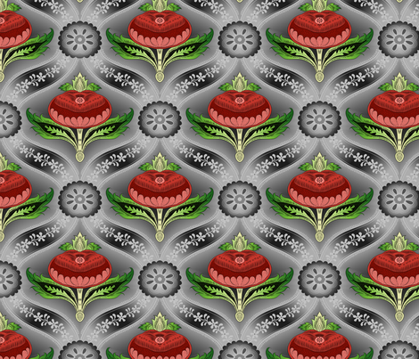 Pomegranate 8 fabric by enid_a on Spoonflower - custom fabric
