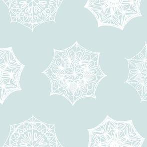 Delicate lace umbrellas