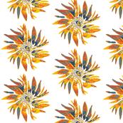 Orange & Navy Flower