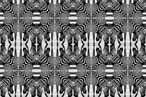 BW_op_art_zebras fabric by mouseonawire on Spoonflower - custom fabric