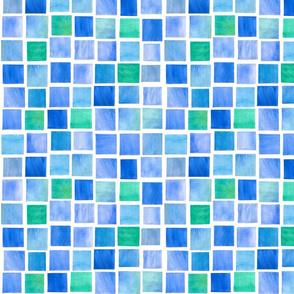 Squares in Pool Tiles