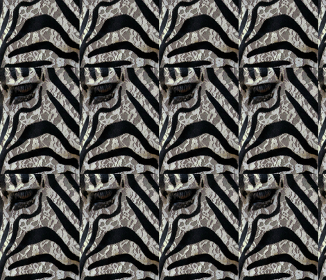 """Azhur zebra)"" fabric by loranso on Spoonflower - custom fabric"