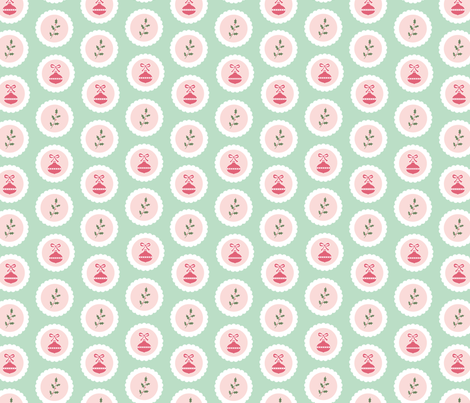 Christmas Stickers fabric by tessie_fay on Spoonflower - custom fabric