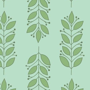 Leaves in Green and Aqua