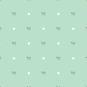 Bows and Dots in Mint