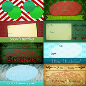 Season's Greetings Gift Tags