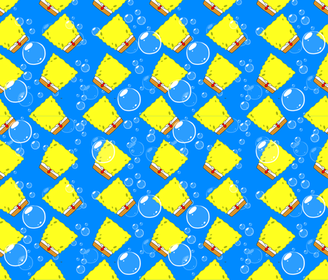 Sponge Inspired Design  fabric by lanrete58 on Spoonflower - custom fabric