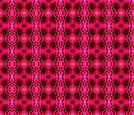 Dahlia in Raspberry fabric by persimondreams on Spoonflower - custom fabric