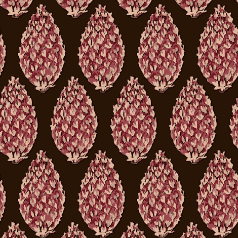 Douglas Fir cones fabric by lfntextiles on Spoonflower - custom fabric