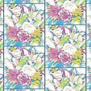 Floral tiles
