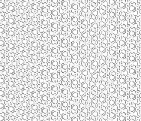 Dopamine | Black & White fabric by handmadephd on Spoonflower - custom fabric