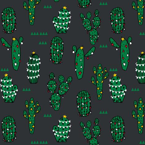 christmas cactus // cute christmas xmas holiday cactus fabrics christmas cactus cute christmas fabrics fabric by andrea_lauren on Spoonflower - custom fabric