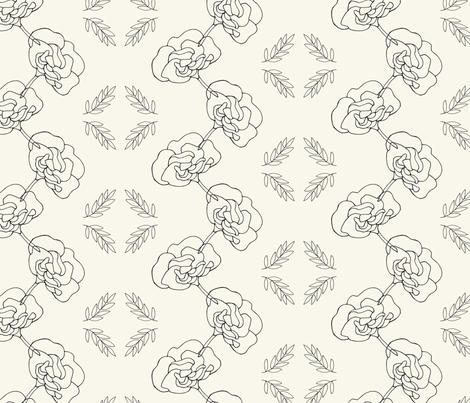 Garden Floral Chain fabric by thejonellejones on Spoonflower - custom fabric