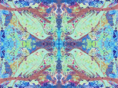 Minty Bird Kaleidoscope