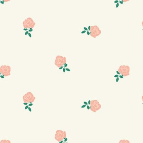 Dainty Floral in Teal and Baby Pink