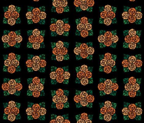Rcraftsmen_round_roses_tiles_black_orange_shop_preview