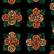 Rcraftsmen_round_roses_tiles_black_orange_shop_thumb