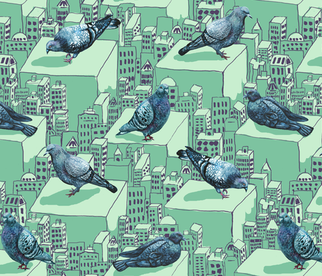pigeon6 fabric by lauredesigns on Spoonflower - custom fabric