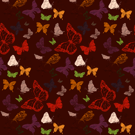 butterfly fall fabric by bruxamagica on Spoonflower - custom fabric