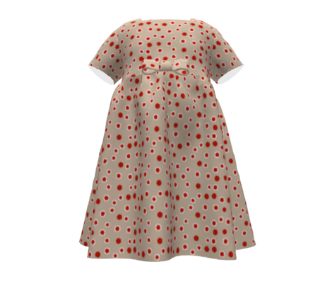 autumn polka dots red