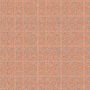 Shikakui - tangerine, slate