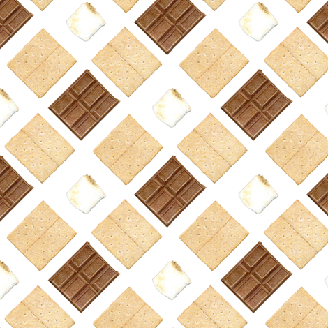 S'mores fabric by smelling_drawings on Spoonflower - custom fabric