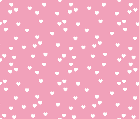Hearts in Pink fabric by hexo on Spoonflower - custom fabric