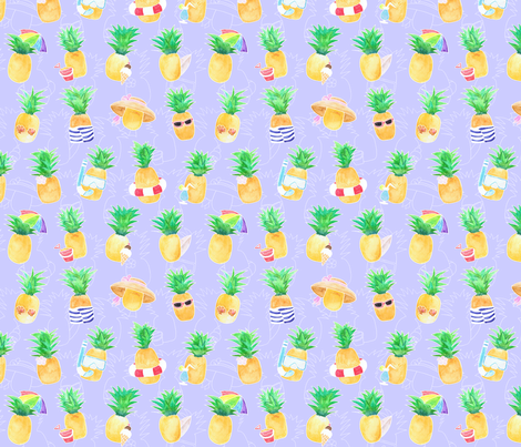 Summer Pineapples - Small fabric by jessicasoon on Spoonflower - custom fabric