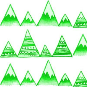 Mountain Tops in Green