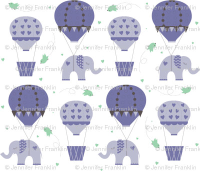 Hot Air Balloon Purple Mint