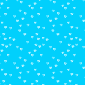 Watercolour Hearts in Aqua