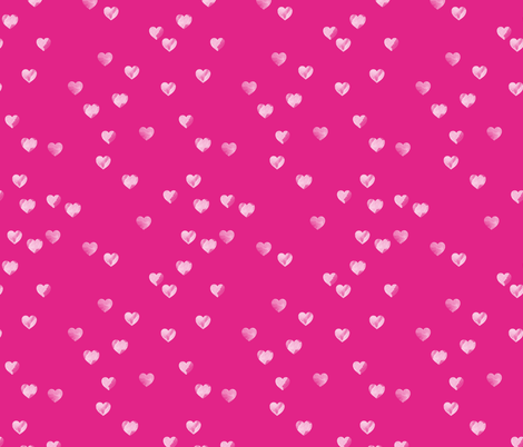 Watercolour Hearts in Pink fabric by hexo on Spoonflower - custom fabric