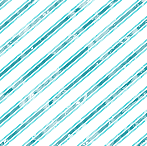 Watercolor Stripe White Aqua fabric by wickedrefined on Spoonflower - custom fabric