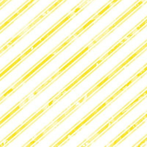Watercolor Stripe White Yellow