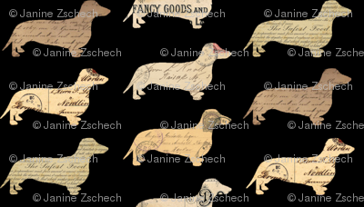 Dachshund Paperback Dogs Black