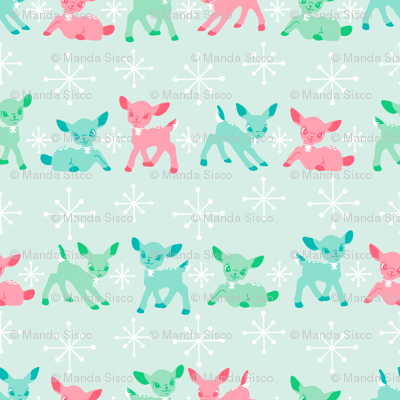 Oh Deer!- Pink Large Scale