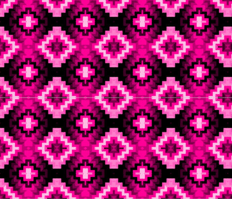 Tribal Design, Pinks fabric by anneostroff on Spoonflower - custom fabric