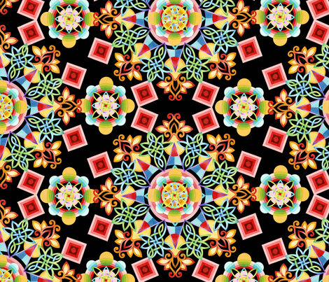Festival Mandala fabric by patriciasheadesigns on Spoonflower - custom fabric