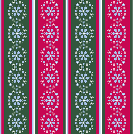 Christmas stripe collar_medallion_Bb fabric by khowardquilts on Spoonflower - custom fabric