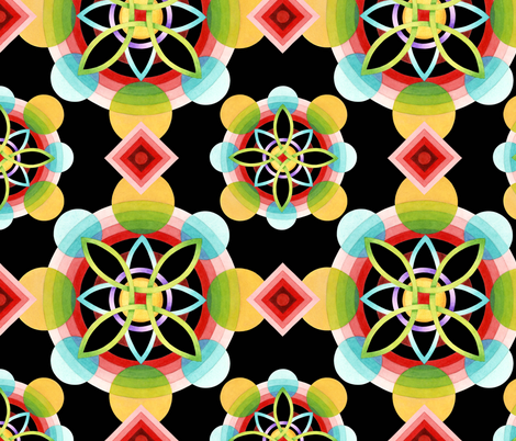 Geometric Blossom fabric by patriciasheadesigns on Spoonflower - custom fabric